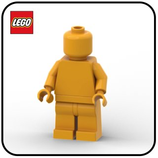 LEGO® Monochrome Minifigur bright light orange